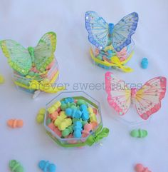 party favors, girl birthday, cold porcelain, favor idea, butterfli favor, girls birthday parties, favor boxes, parti favor, butterfli parti