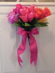 5 Minute Spring Bouquet - Use fake flowers for this whimsical spring craft