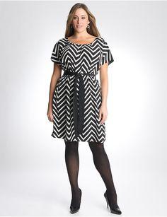 Plus Size Chevron Stripe Dress by Lane Bryant | Lane Bryant