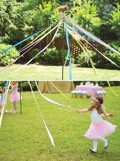 DIY Maypole — a fun activity for girls' parties