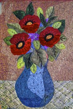 Flower vase with beading. by Judy Hartman. Click for close up. It's worth it.
