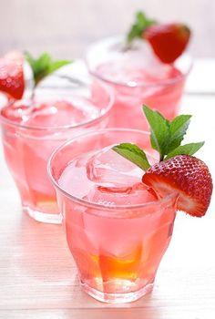 icedtea, glasses, pink drinks, long island, islands, strawberri, iced tea, cocktails, orange juice