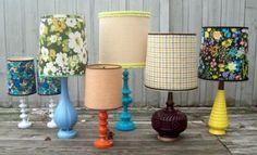 repurpose or redo lamps, Love the brown one.