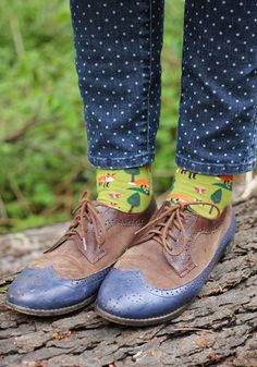 Eclectic mash up - jeans from Target, socks from Modcloth  and shoes from Le Bunny Bleu
