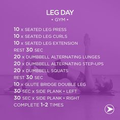 Leg day at the gym! :D