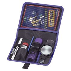 Fantastic Spy Case for super sleuthing includes  folding binoculars  flashlight (2 x AAA batteries included)  magnifying glass  codes  fingerprint powder and dusting brush  secret marker pen set  spy guide