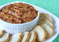 Vegan Hot Caramelized Onion Bacon Dip