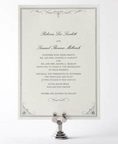 Biltmore Letterpress Wedding Invitation