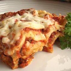 Simply Traditional Lasagna Allrecipes.com