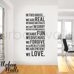 Vinyl Wall Sticker Decal, In this house we do. $49.00, via Etsy.