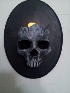 skull wall, wall sconces, skull sculpting, skull crazi
