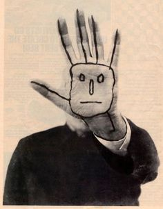 "Saul Steinberg's Last Self-Portrait.  ""...see me for what I create..."""
