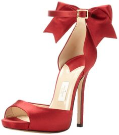 kate spade new york Chrissie Dress Sandal in Deep Red Satin