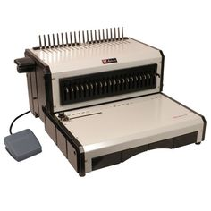 The Akiles AlphaBind-CE is a brand new plastic comb binding machine from Akiles. It is designed to offer the same great heavy duty design as the Megabind-E binding machine at a lower price point. Users who don't need the fourteen inch punching length offered by the Megabind-1E can save money with the AlphaBind-CE. The AlphaBind is an excellent choice for organizations that work primarily with letter size documents or sheets.