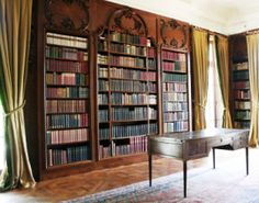 The library at The Mount, Edith Wharton's home in Lenox, Massachusetts