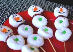 Snowman Kabobs #holiday #recipe #LindsayWeiss