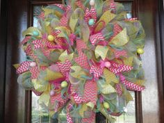 Spring/Easter Deco Mesh Wreath via Etsy  http://www.etsy.com/shop/CordialConcepts