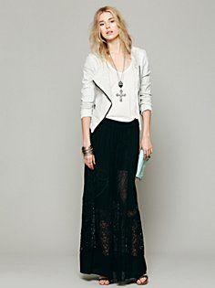 maxi skirt cross necklace :)