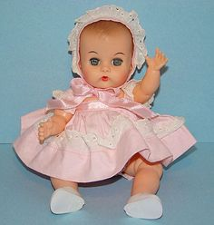 Vogue Ginnette Baby Doll C1958 in Pink Dress Tagged
