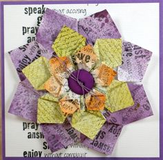 Club Scrap Wild Flower Folded Flower Card