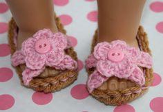 Pink and brown crochet flower baby girl flip flops by tweetotshop.