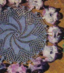 Free Crochet Pattern ~ Petunias Doily