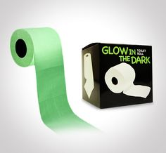 Better stock up on some Glow In The Dark Toilet Paper ($10.00).