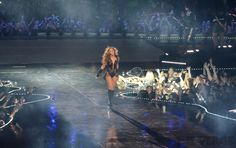 At the end of her Super Bowl performance, Beyonce basked in the wild applause for about ten seconds before the stage was quickly torn down.