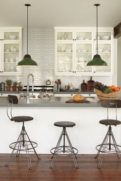 Rejuvenation Kitchen: - Rejuvenation's Pineridge corded #pendants and #stools