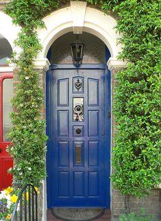 Blue door, London