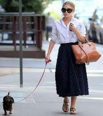Mary Kate Olsen and her tiny pup