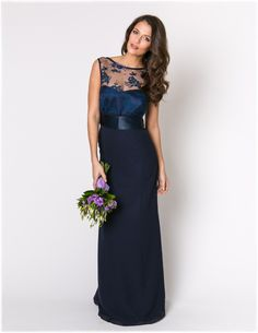 Maids To Measure | Charlotte Lace Navy/ vestido para las damas de la boda