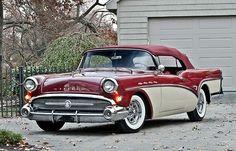 1957 Buick convertible in Seminole Red/Dover White