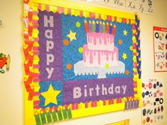 Happy Birthday Classroom Bulletin Board Idea