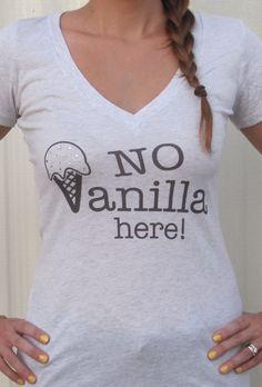 No Vanilla Here Womens Tshirt with Swarovski by treebaubles, $23.99