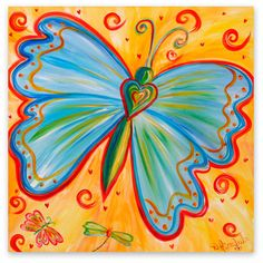 Butterfly Paintings On Canvas | Butterfly Canvas Art | Debbie Marie Arambula | Contemporary Master of ...