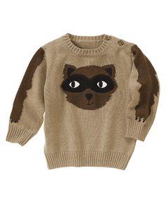 Raccoon Sweater at Gymboree