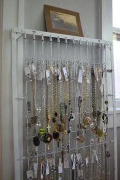 Crib springs repurposed for jewelry