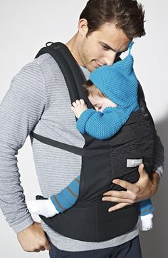 Father & son bonding moment. sweetness! ERGObaby Baby Carrier.