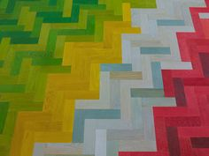 Painted parquet floors