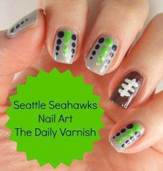 Seattle Seahawks Nail Art