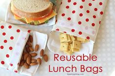 Girl. Inspired. {sewing, crafts, party inspiration}: Reusable Snack Bags