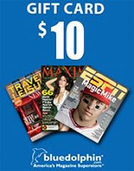 FREE $10 Blue Dolphin Gift Card = FREE Magazines  http://www.thefreebiesource.com/?p=213977