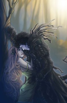 This is not only wonderful artwork of Hades kidnapping Persephone, it's based off of Sherlock and Molly. http://sempaiko.tumblr.com/image/40286481574