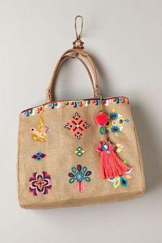 Sun Island Embroidered Bag