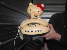 Hello Kitty telephone with rotary dial