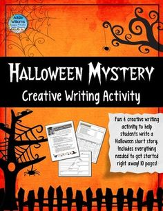 """Halloween Mystery - Writing Activity.  Includes everything you need to get started on this right away - templates, organizers, rubric and fun """"dial-a-mystery"""" activity to help struggling writers. ($)"""