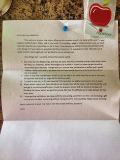 Random Girl Posted this on FB...Letter from Neighbor.