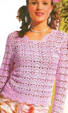 Розовая ажурная блуза. Комментарии : LiveInternet - Российский Сервис Онлайн-Дневников