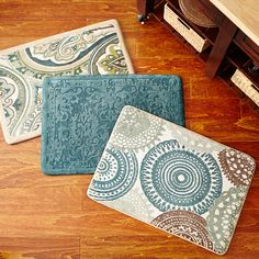 If you spend a lot of time on your feet, a Cloud Step® memory foam rug is a must-have.